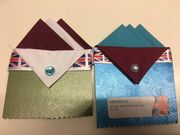 Gift Set of Two Hankies Blue and Burgundy